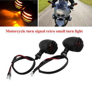 Universal Motorcycle Bikes Fence Turn Signal Lamp Retro Small Turn Light Brake