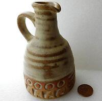 Cornish studio pottery bottle for oil or vinegar St Keyne Cornwall 5 inches tall