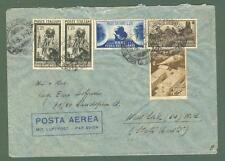 Storia postale. REPUBBLICA ITALIANA. Lettera aerea del 19.9.1951...