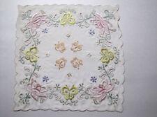 7fa94561d5fb New ListingSilk Hankie Hankerchief Vintage   Handmade Lace   Embroidery  Butterflies