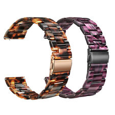 For Fitbit Versa 2 Premium Resin Stainless Steel Wristband Strap Bracelet Buckle