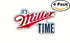 Miller Lite Time Beer Decal Diecut Sticker 4 Stickers