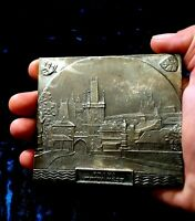 1947 Prague Europe Wrestling Championship Winner Silver 2th place medal