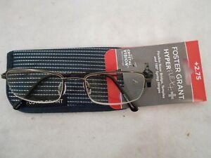 NEW Premium Foster Grant Hyperflex Gunmetal Reading Glasses Soft Case FREE SHIP