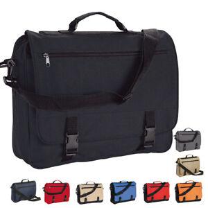 Messenger Satchel / Black Shoulder Bag - Work School College Travel Document Bag