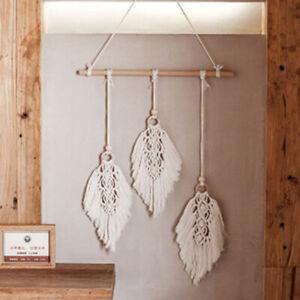 Leaf Shape Boho Handmade Macrame Wall Hanging knitting Cotton Rope Home Decor