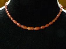 Collar Ras del cuello Marca Naturaleza Cuentas rojo anaranjado MUY BUEN ESTADO