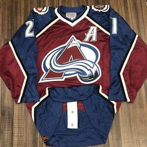 Starter Authentic Peter Forsberg Colorado Avalanche Mesh NHL Hockey Jersey 48