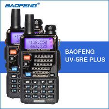 2PCS BaoFeng UV-5RE+ UHF VHF Dual Band Portable Ham Two way Radio Walkie Talkie