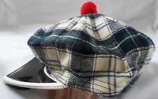 Vintage Auto Sports Cap Hat Sun Visor Jordan Motor Co Switz Gordon Dress Tartan
