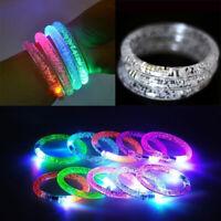 LED Acrylic Bracelet Light Up Wristband Bangle Flashing Rave Wear Glow Bling