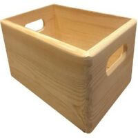 Neu Holzkiste Kiefer offen Holzbox Allzweckkiste Aufbewahrungskiste 30x20x14 cm