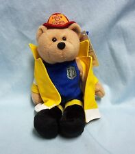 "Limited Treasures 9"" Fire Rescue Plush Collectible Stuffed Hero Bear - Gallant"
