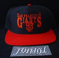 VTG NEW SAN FRANCISCO GIANTS MLB BASEBALL LOGO EDS WEST MASCOT SNAPBACK HAT CAP