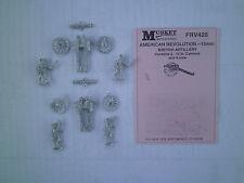 15mm Musket Miniatures  American revolution  British Artillery