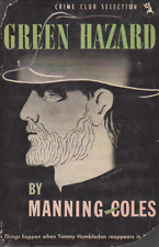 Green Hazard - Manning Coles - Very Rare American 1st Hardcover with Dust Jacket