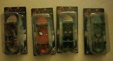 NIP Full Set Of 4 Mini Skateboards Marvel Spider-Man Far From Home Happy Kuji
