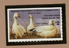 Ms13 - Mississippi State Duck Stamp. Mnh. Og.