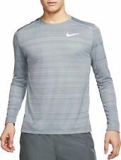 BNWT NIKE Dri Fit Running Miler Long Sleeve Top Sz Large ~ Grey