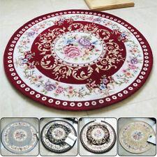 Vintage Floral Jacquard Round Area Rug Carpet Floor Mat Anti-slip Room Decor