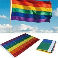 Regenbogen Fahne Flagge Rainbow GAY FAHNEN 3*5FT - F Schwenkfahne 150*90 P0 U1H7