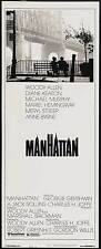 MANHATTAN Movie POSTER 14x36 Insert Woody Allen Diane Keaton Meryl Streep Mariel