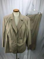 Lane Bryant Women's Beige Pant Suit Jacket  20 Pants 22
