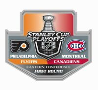 2020 STANLEY CUP NHL PLAYOFFS PIN 1ST FIRST ROUND PHILADELPHIA FLYERS CANADIENS