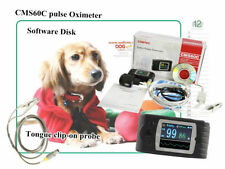 Handheld Veterinary Pulse Oximeter Cms60d-vet With Tongue Spo2 Probe PC Software