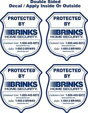 4 Double Sided Alarm Security Protected By Sticker Decals Apply Inside - Outside