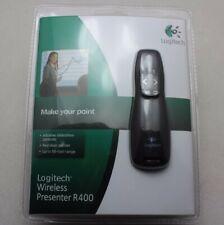 Logitech R400 Professional Wireless Presenter w/Red Laser Pointer Slide Show