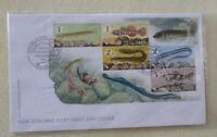 2017 NEW ZEALAND FISH SET OF 5 STAMPS MINI SHEET FDC FIRST DAY COVER
