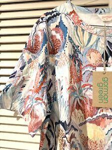 "New! Very Cute GORMAN ""Banksia"" Swing Cotton Dress -  size 16"