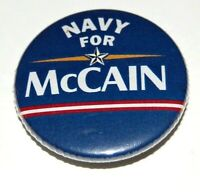 2008 NAVY FOR JOHN MCCAIN campaign pin pinback button political presidential