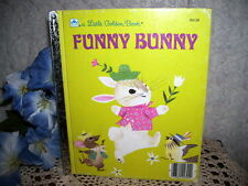 LITTLE GOLDEN BOOK FUNNY BUNNY BY LEARNARD 1978