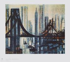 Marcel GROMAIRE NEU hochwertig Lichtdruck Kunstdruck, Brooklyn Bridge - RARITÄT