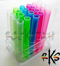 24 Unbreakeable Test Tube Plastic Shot Shooters - Assorted Color Tooters