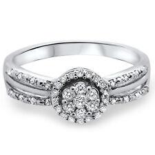18k White Gold, F/VS 0.26carat Round Brilliant Cut Diamonds Engagement Ring