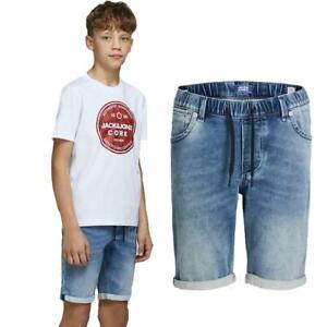 Jack And Jones Boys Shorts Kids Casual Drawstring Junior Summer Cotton Half Pant