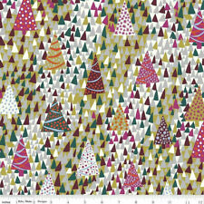 Liberty Of London Seasons Greetings Fabric Tree Sparkling Forest 100% cotton