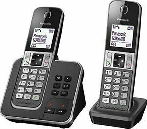 Panasonic KX-TGD322 Duo DECT-Schnurlostelefon in schwarz