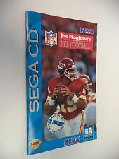 "Joe Montana""s NFL Football Sega CD Instruction Manual Only! NO Game Disc!"