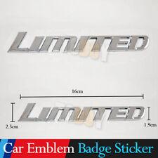 EW Chrome Silver LIMITED Sticker Badge Car Logo Side Rear Emblem Sticker Decal