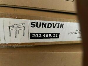 IKEA SUNDVIK Children's kid's table, Black Brown color, real solid pine wood
