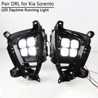 For Kia Sorento 2018-2020 DRL Fog Lamp Bezel 4 Eyes LED Daytime Running Light
