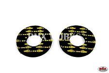 Flite Old School GT Wings BMX Grip Donuts - Pairs - Black & Yellow