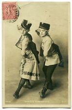 CPA - Carte Postale - Fantaisie - Danse Hongroise - 2 Femmes - Chapeau (C8622)