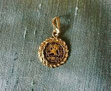 VTG Vintage 1989 Chinese 5 Yuan .999 Pure Yellow Gold Coin Pendant 3.55g