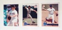 Red Sox Player Cards Roger Clemens Jon Valentin Tim Wakefield Set Of 3