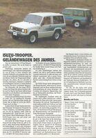 Isuzu Trooper 9/85 Prospekt 1985 brochure Autoprospekt Broschüre broschyr Auto